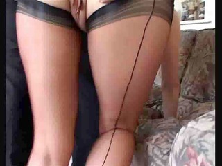 dirty mamma in stockings acquires her pussy