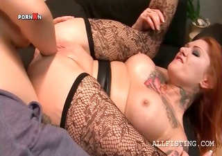 concupiscent lesbo having her fuck hole fisted